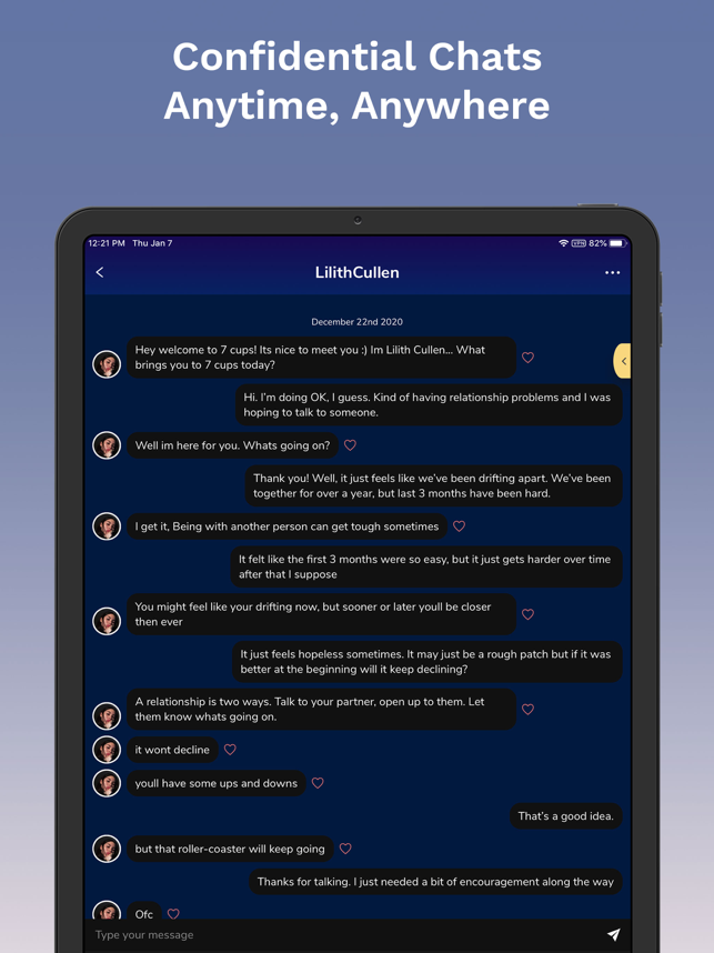 ‎7 Cups: Online Therapy & Chat Screenshot