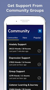 7 Cups: Online Therapy for Mental Health & Anxiety Screenshot